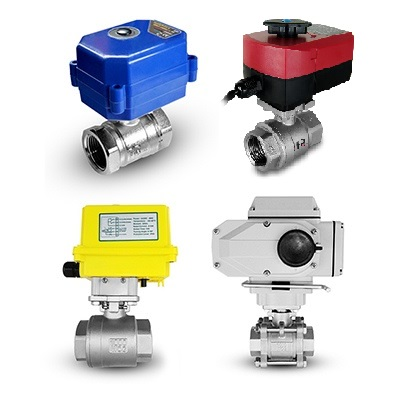Valves with electric actuator