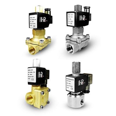 NO solenoid valves - open