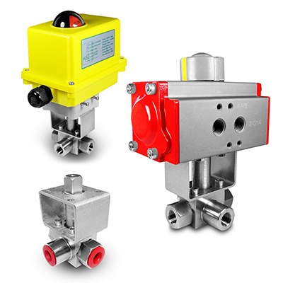 High-pressure ball valves