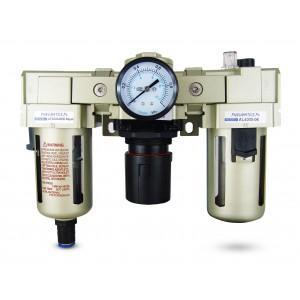 Filter dehydrator regulator lubricator FRL 3/4 inch set to air AC4000-06D