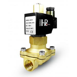 Solenoid valve open 2N25 NO 1 inch 230V or 12V, 24V, 42V