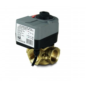 Mixing valve 3-way 1 1/4 inch with electric actuator AM8