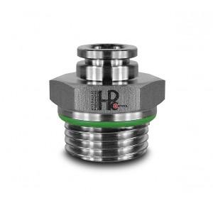 Plug nipple straight stainless steel hose 8mm thread 3/8 inch PCS08-G03