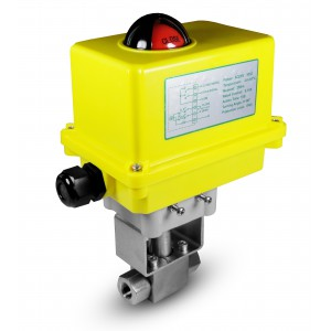 High pressure ball valve 1/2 inch SS304 HB22 with electric actuator A250