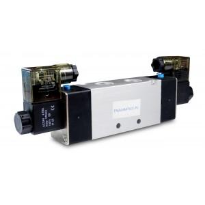 Solenoid valve 4V220 5/2 1/4 inch for pneumatic cylinders 230V or 12V, 24V