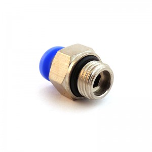 Plug nipple straight hose 6mm thread 3/8 inch PC06-G03