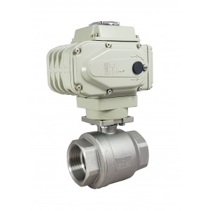 Stainless steel ball valve 1 1/2 inch DN40 with electric actuator A500