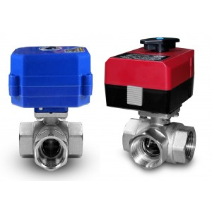 3-way ball valve 1 inch with electric actuator A80 or A82