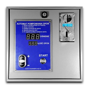 Electronic automatic tire inflation pay coins for wall mounting