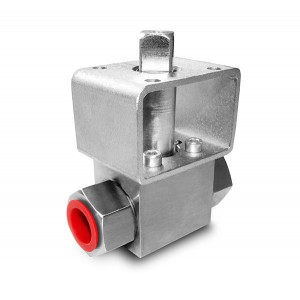 High pressure ball valve 1/2 inch SS304 HB22 mounting plate ISO5211