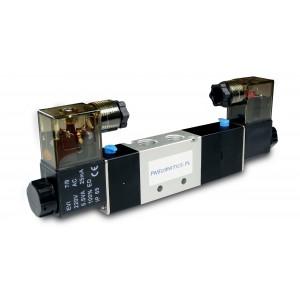 Solenoid valve 5/3 4V230P 1/4 inch for pneumatic cylinders 230V or 12V, 24V