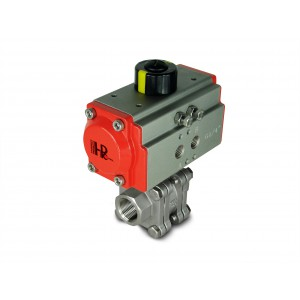 1/2 inch high pressure ball valve DN15 PN125 with pneumatic actuator AT40