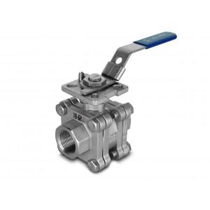 3/4 inch high pressure ball valve DN20 PN125