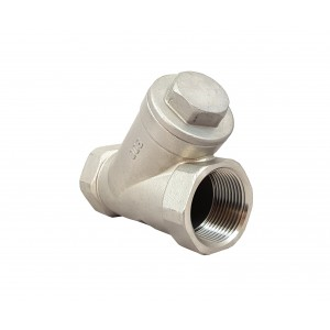 Check valve Y type DN32 1 1/4 inch - stainless steel SS316
