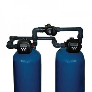 Dual industrial softener 15.4 m3 / h