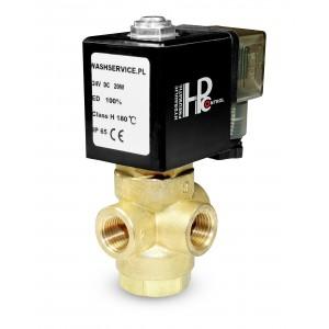 3-way solenoid valve 3V 3x1/4 inch 230V 24V 12V