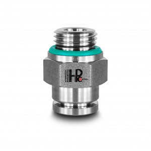 Plug nipple straight stainless steel hose 6mm thread 1/4 inch PCS06-G02