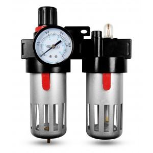 Filter dehydrator regulator lubricator FRL 1/2 inch set to air BFC4000