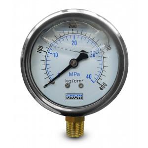 Glycerin manometer 400 bar