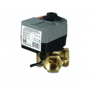 Mixing valve 4-way 1 1/4 inch with electric actuator AM8