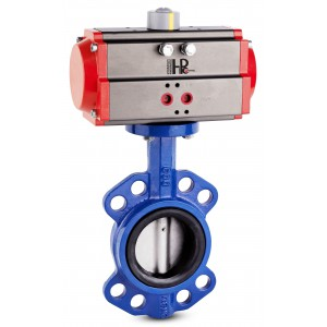 Butterfly valve, throttle DN100 with pneumatic actuator AT83