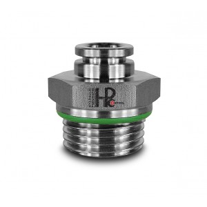 Plug nipple straight stainless steel hose 8mm thread 1/2 inch PCS08-G04