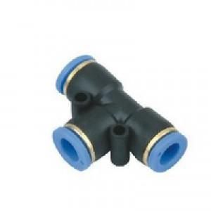 Plug nipple tee PE06 hose 6mm