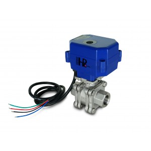 1/2 inch high pressure ball valve PN125 with actuator drive A80 or A82