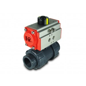 Ball valve UPVC 1 1/4 inch DN32 with pneumatic actuator AT40