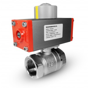Brass ball valve 1 inch DN25 with pneumatic actuator AT32