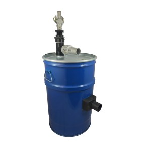 Vacuum cleaner tank 60l with compressed air filter cleaning