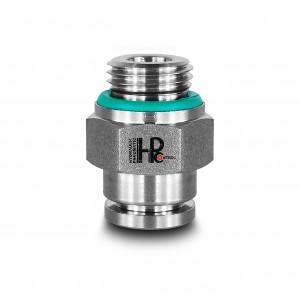 Plug nipple straight stainless steel hose 8mm thread 1/4 inch PCS08-G02