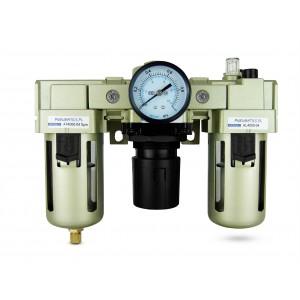 Filter dehydrator regulator lubricator FRL 1/2 inch set to air AC4000-04