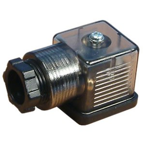 Plug to solenoid valve 18mm DIN 43650 with LED