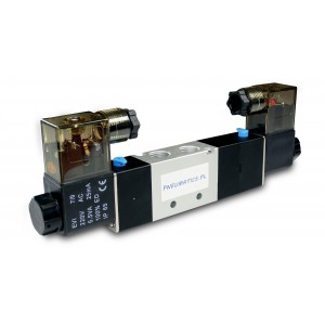 Solenoid valve 4V230C 5/3 1/4 inch for pneumatic cylinders 230V or 12V, 24V