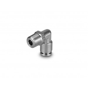 Plug nipple angled stainless steel hose 10mm thread 1/4 inch PLSW10-G02
